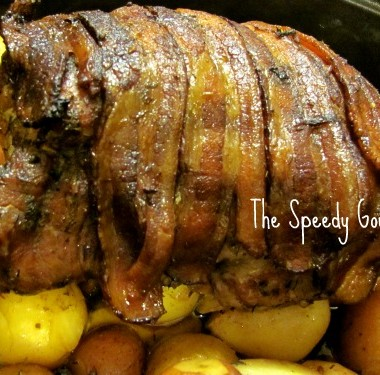 Roast Pork,pork roast recipe,pork roast with potatoes and bacon