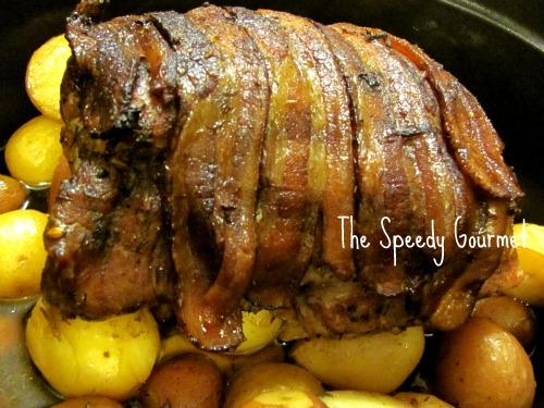 Roast Pork,pork roast recipe,pork roast with potatoes and bacon