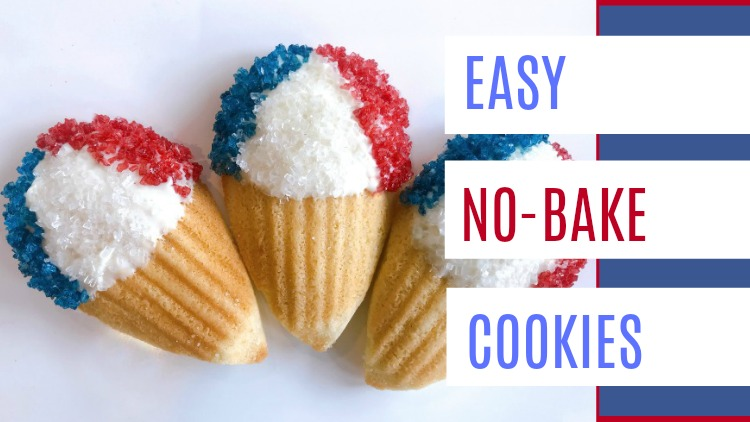 Easy no bake 4th of July cookies