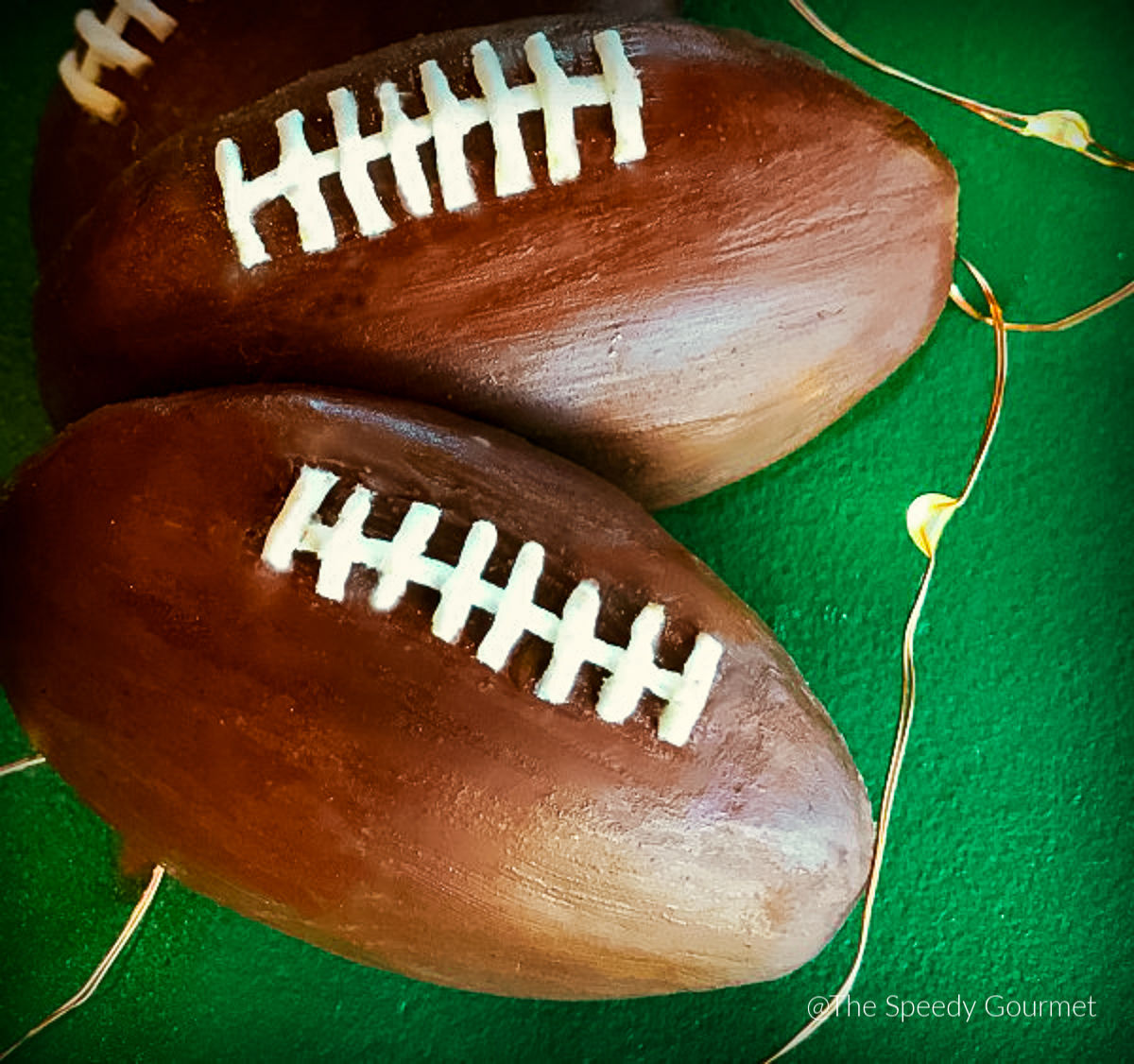 Chocolate Covered Football Shaped Cookies