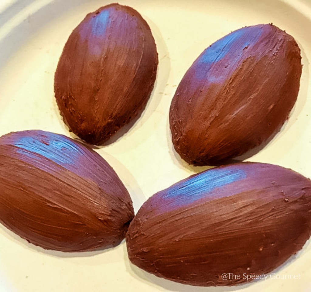 Madeleines covered in chocolate