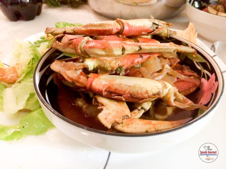 Crab Cioppino Stew in a bowl