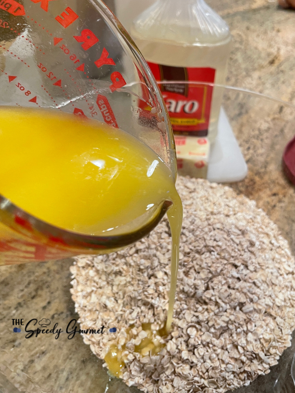 melted butter for Irresistible Oatmeal Chocolate Bars