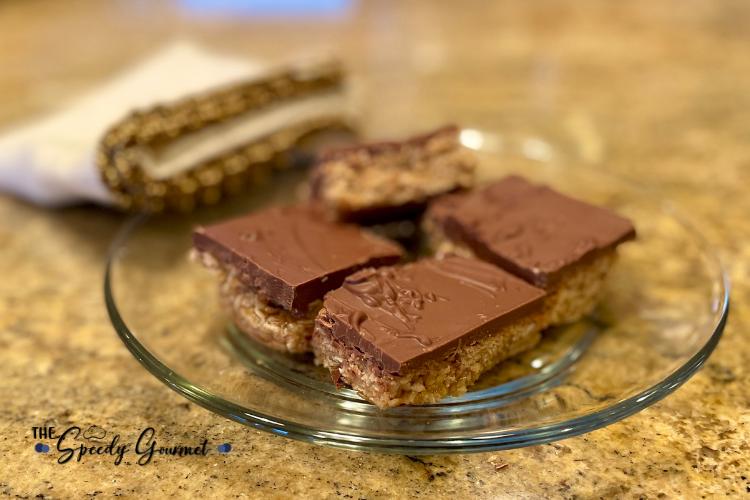 Chewy Oatmeal Chocolate Bars