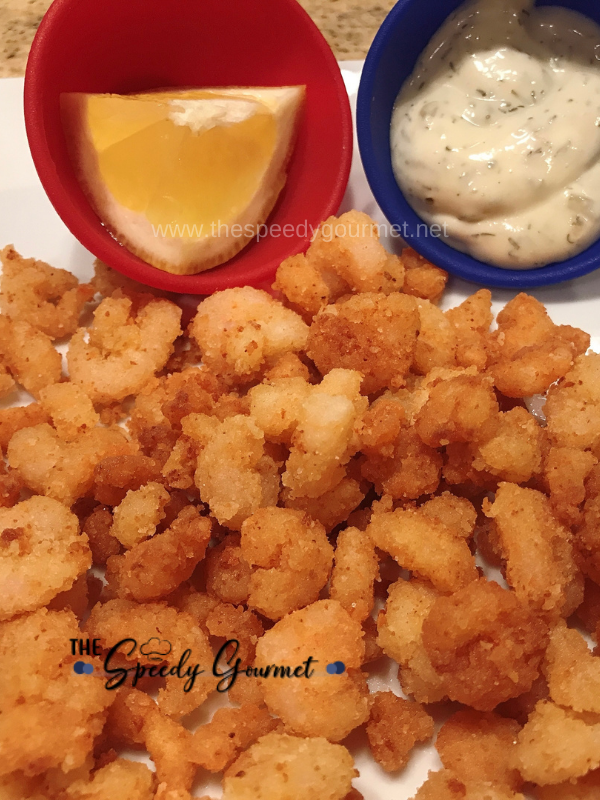 Fried Baby Shrimp on a plate